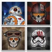 Limited Edition Star Wars Force Four Art Prints