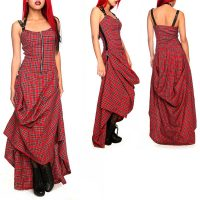 Lip Service Red Plaid Long Halter Dress