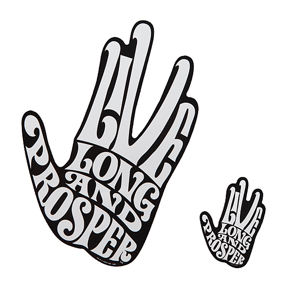 Live Long & Prosper Spock Car Decal