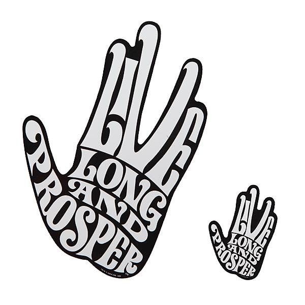 live long prosper spock car decal. Black Bedroom Furniture Sets. Home Design Ideas