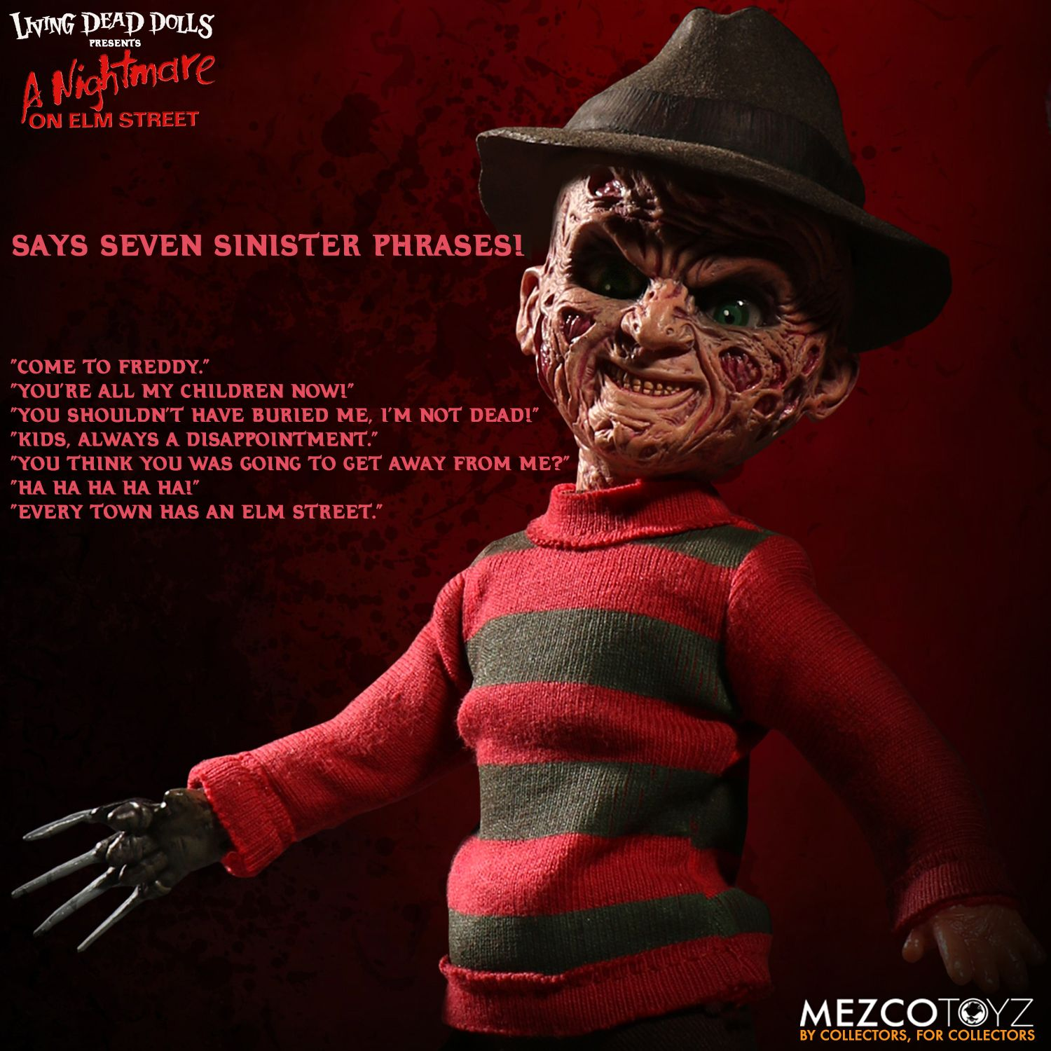 Living Dead Dolls Friday The 13th Jason Voorhees Doll: A Nightmare On Elm Street Talking