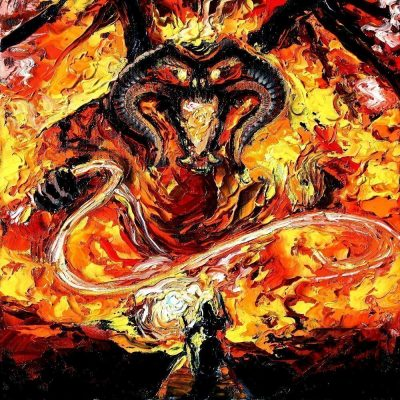 Lord of the Ring Balrog Starry Night Print