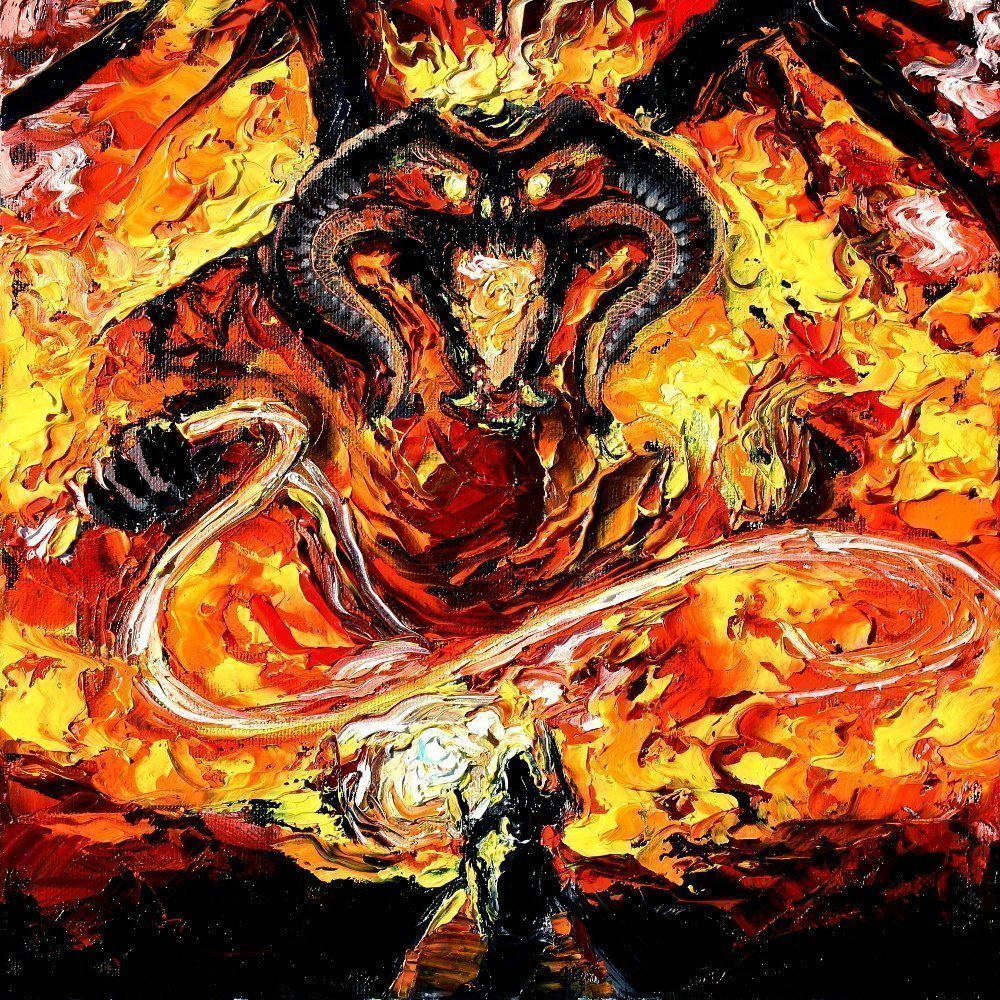Lord Of The Ring Balrog Starry Night Print Geekalerts