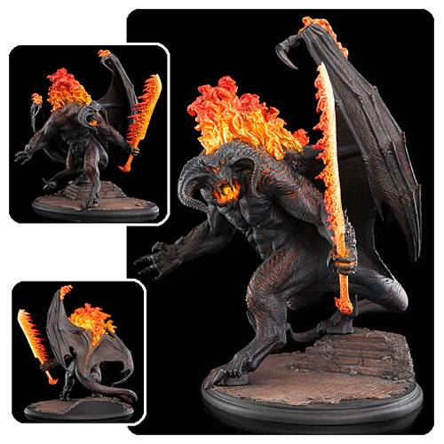 Lord of the Rings Balrog Demon of Shadow and Flame Statue