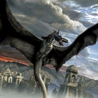 Lord of the Rings Art Fellbeast Painting