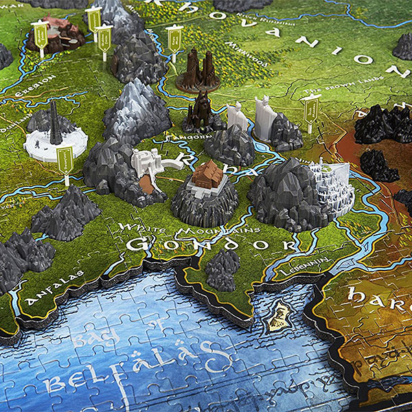 Lord of the rings map of middle earth 3d puzzle gumiabroncs