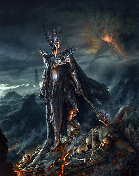 Lord of the Rings Sauron Painting