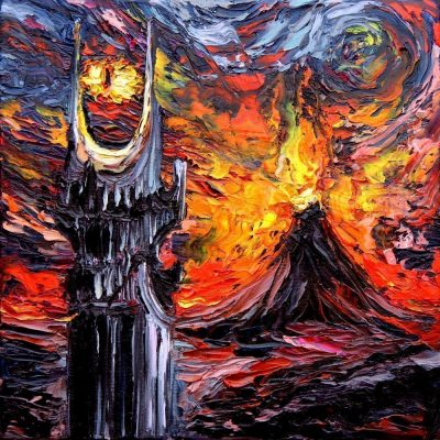 Lord of the Rings Starry Night Print