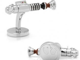 Luke Skywalker Lightsaber Silver Plated Cufflinks