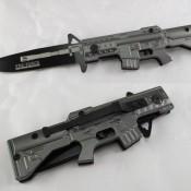 M4 Carbine Style Grey Folder Pocket Knife