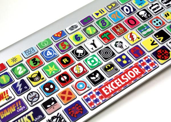 Macbook Keyboard Super Hero Skin
