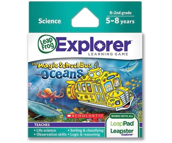 Magic School Bus Oceans LeapFrog Explorer Learning Game Review