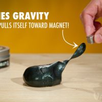 Magnetic Thinking Putty With Micron-sized Magnets