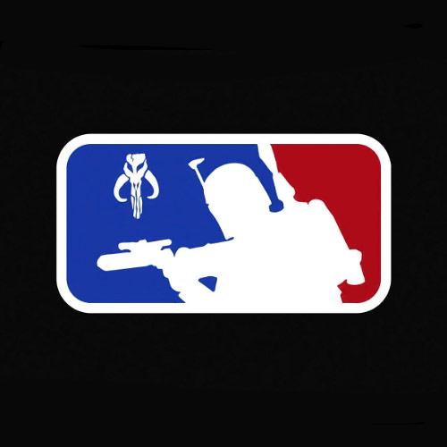 Major League Boba Fett Star Wars Vinyl Sticker