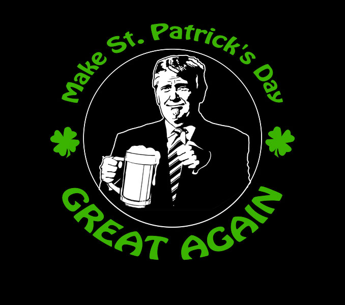 Make St. Patrick's Day Great Again Trump Beer Shirt