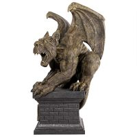 Manchester Cathedral Gothic Chimera Gargoyle Statue Side