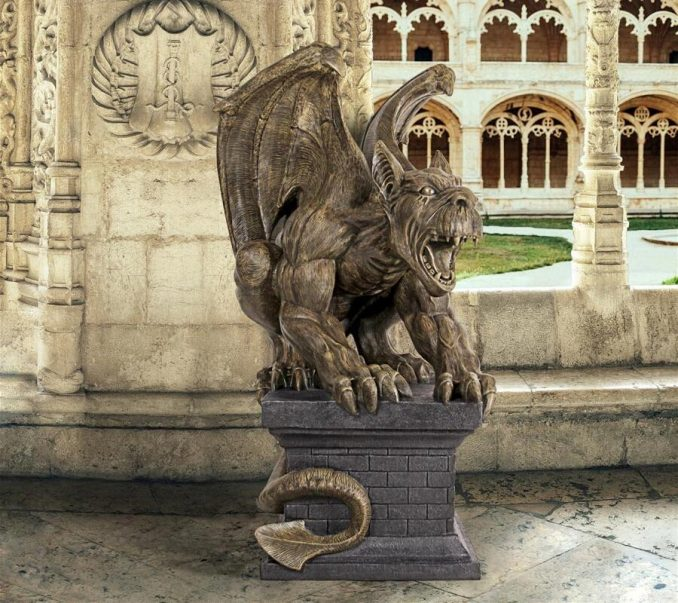 Manchesters Cathedral Gothic Chimera Gargoyle Statue