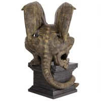 Manchesters Cathedral Gothic Chimera Gargoyle Statue Back