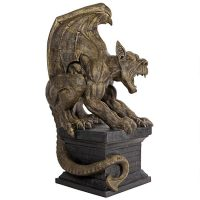 Manchesters Cathedral Gothic Chimera Gargoyle Statue Side