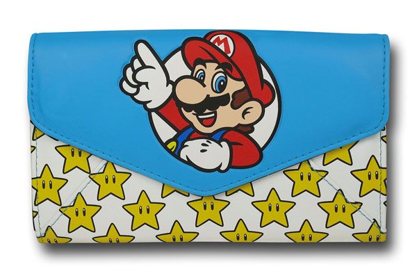 Mario Stars Womens Envelope Wallet