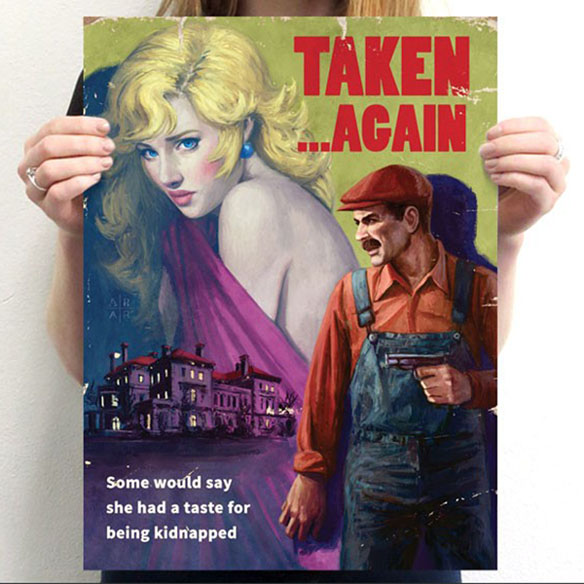 Mario Taken Again Poster