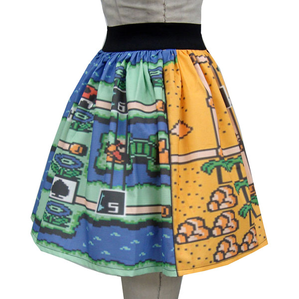 Mario World Two Levels Full Skirt
