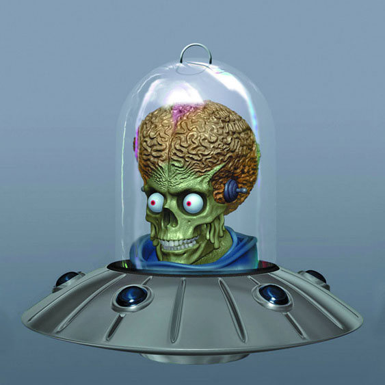 Mars Attacks Ship Ornament