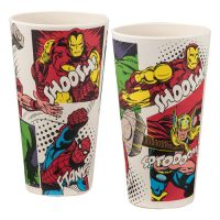Marvel 24 oz. Bamboo Tumblers 2-Pack