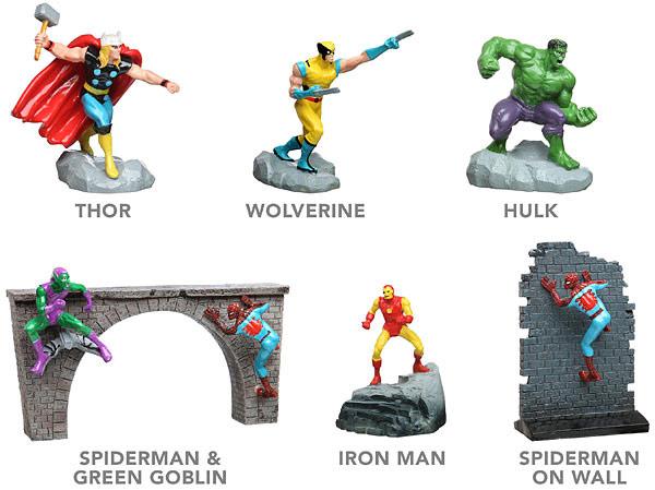 Marvel Aquarium Figures