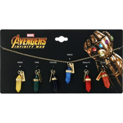 Marvel Avengers Infinity War Interchangeable Infinity Stone Necklace