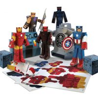Marvel Avengers Papercraft Set