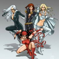 Marvel Bad Girls Art Print
