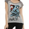 Marvel Black Widow Girls Raglan Muscle Top