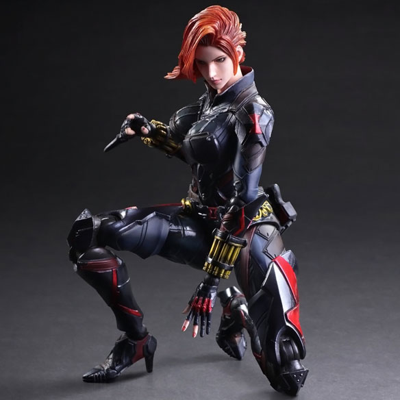 Marvel Black Widow Variant Play Arts Kai Action Figure