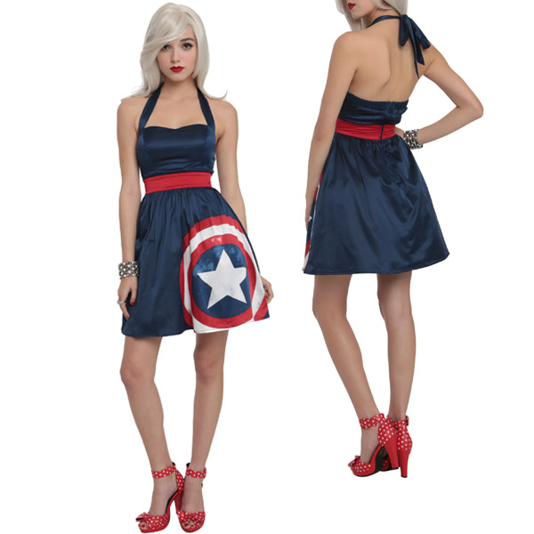 Marvel By Her Universe Captain America Halter Dress