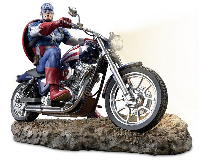 Marvel Captain America Illuminated Masterpiece Sculpture