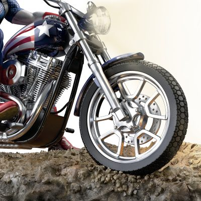Marvel Captain America Motorcycle Sculpture