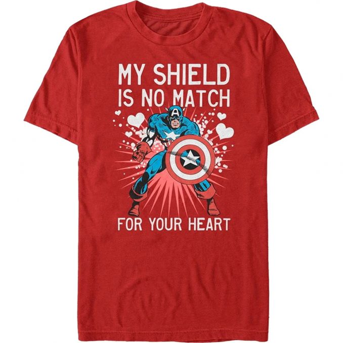 Marvel Captain America Valentine's Day T-Shirt