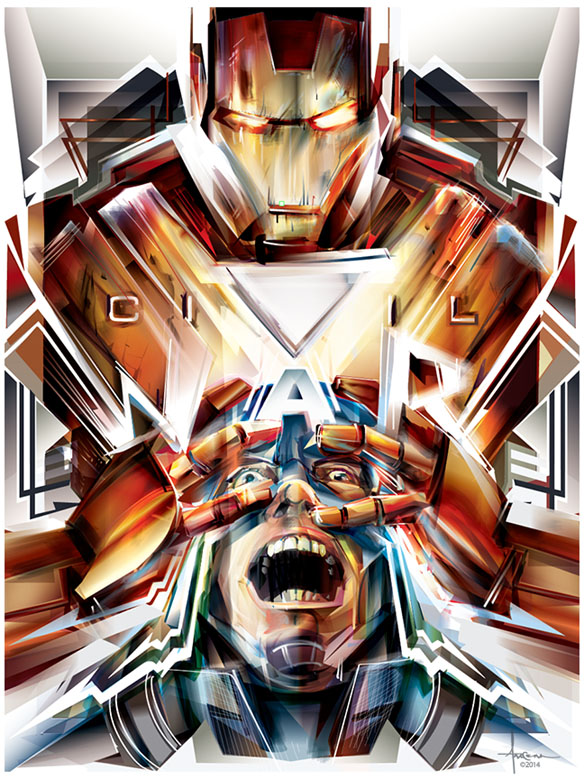 Marvel Civil War Art Print