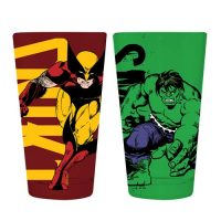 Marvel Classic Hulk and Wolverine Pint Glass 2-Pack
