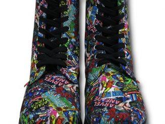 Marvel Comic Print Womens Boots