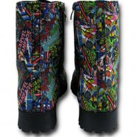 Marvel Comic Print Womens Boots