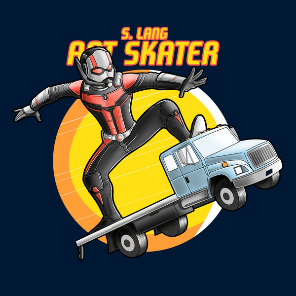 Marvel Comics Ant Man Skater T Shirt