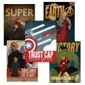 Marvel Comics Avengers Propaganda Poster Set