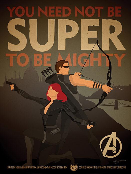 Marvel Comics Avengers Propaganda Poster Set3