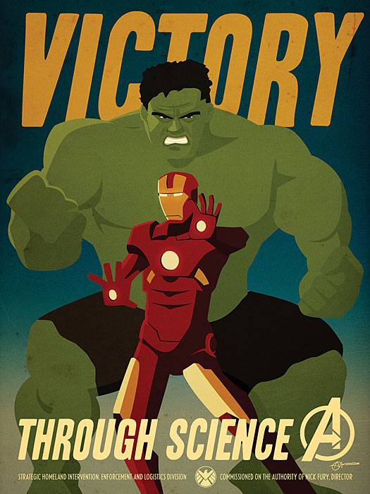 Marvel Comics Avengers Propaganda Poster Set4