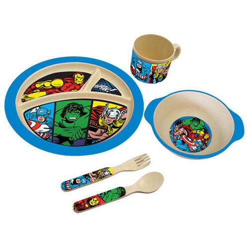 Marvel Comics Bamboo Mealtime Set