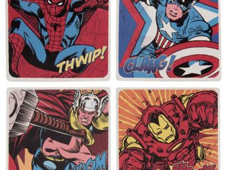 Marvel Comics Ceramic Coaster 4-Pack