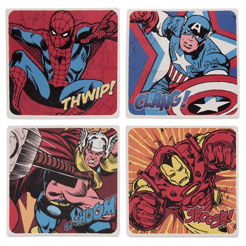Marvel Comics Ceramic Coaster 4-Pack