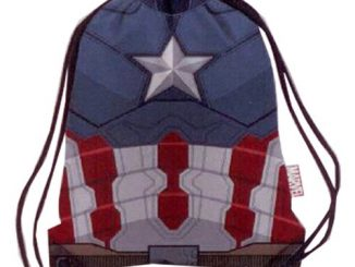 Marvel Comics Civil War Armor Captain America Drawstring Cinch Backpack